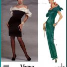 Vogue Sewing Pattern 2588 Sz 6-10 Victor Costa Misses' Fitted Evening Gown Cocktail Dress Fancy Bows