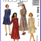 McCall's Sewing Pattern 8488 Sz 12-16 Misses' Dress with Tucks Peter Pan Collar Long or Short Sleeve