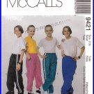 McCall's Sewing Pattern 9421 Sz 7-8 Children's Nylon Track Pants Snap Off Sports Trousers Gym Pants