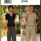 Butterick Sewing Pattern 4004 Sz 12-16 Misses' Loose Fit Short Sleeve Jacket Pull-on Wide Leg Pants