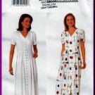 Butterick Sewing Pattern 4913 Sz 12-16 Misses' Loose A-Line Dress Buttons Pleats V-Neck Back Ties