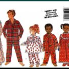 Butterick Sewing Pattern 4222 Sz 2-6 Boys' Girls' Traditional Sleepwear Yoke Nightgown Pajama Pants