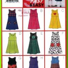 Butterick Sewing Pattern 5166 Sz 6-8 Girls' A-Line Pullover Jumper Dress Appliques Scoop Square Neck