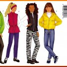 Butterick Sewing Pattern 6789 Sz 12-16 Girls' Sporty Jackets Bomber Anorak Parka Vest Pants Headband