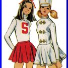 Simplicity Sewing Pattern 5111 Sz 8 Vintage Girls' Costumes Cheerleader Majorette Ice Skating Outfit