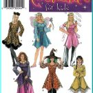Simplicity Sewing Pattern 4037 Sz 7-14 Girls' Halloween Costumes Fairy Gypsy Witch Pocahantas Feline