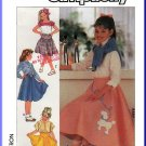 Simplicity Sewing Pattern 7878 Sz 10-14  Girls' Vintage Skirts Poodle Circle Skirt Yoke Kick Pleats