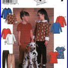 Simplicity Sewing Pattern 7824 Sz 5-8 Girls' Knit Tops Peter Pan Collar Pullon Elastic Pants T-shirt
