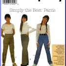 Simplicity Sewing Pattern 8083 Sz 7-14 Girls' Fly Front Trousers Pants Straight Leg Bootcut Slim Leg