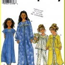 Simplicity Sewing Pattern 8488 Sz 8-14 Girls' Housecoat Robe Traditional Nightgown Pajamas PJs Set