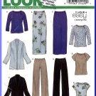 New Look Sewing Pattern 6147 Sz 10-22 Misses' Easy Raglan Tops Cardigan Jacket Long Skirt Pants