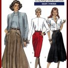 Vogue Sewing Pattern 7566 Sz 12-16 Misses' Vintage 80s Skirts Fitted Tapered Flared Styles Welts