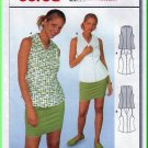 Burda Sewing Pattern 2729 Sz 10-20 Misses' Sleeveless Summer Blouse Princess Seams Collar Buttons
