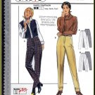 Burda Sewing Pattern 3130 Sz 10-28 Misses' Classic Tapered Trousers Dress Pants Fly Front Waistband
