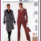 Burda Sewing Pattern 8588 Sz 10-22 Misses' Suit Coordinates Shawl Collar Jacket Skirt Trousers Pants