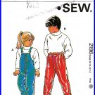Kwik Sew Sewing Pattern 2196 Sz 8-14 Girls' Boys' Skiing Snow Rain Pants Overalls Nylon Trousers