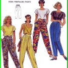 Burda Sewing Pattern 5157 Sz 8-20 Misses' Retro 90s Tapered Pants Pleats Yoke MC Hammer Trousers