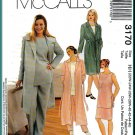 McCall's Sewing Pattern 3170 Plus Size 22W-28W Women's Coordinates Duster Coat Tank Top Pants Skirt