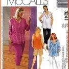 McCall's Sewing Pattern 3241 Plus Size 22W-28W Women's Summer Tops Pants Shorts Handkerchief Ruffles