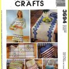 McCall&#39;s Sewing Pattern 3694 Huck Weaving Arts Crafts Apron Placemat Towel Table Runner Pillows Bag