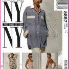 McCall's Sewing Pattern 5867 Sz 10 Misses' NY Collection 90s Oversized Button Shirt Halter Top Pants