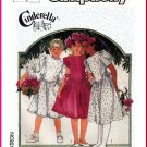 Vintage Simplicity Sewing Pattern 7342 Sz 12 Girls' Cinderella Flower Girl Dress Basque Waist Bodice
