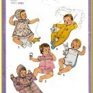 Vintage Simplicity Sewing Pattern 8494 Sz 6MO Babies' Layette Bunting Sleeper Bonnet Pajamas Sunsuit