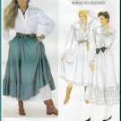 Vintage Vogue Sewing Pattern 2881 Sz 8 Misses' Boho Prairie Blouse Skirt Dress Ruffles Ralph Lauren