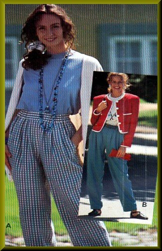 Sewing Step-By-Step Pattern 012-052-149 Elastic-Waist Pants Sz 4-22 Misses' Pull-on Elastic Trousers