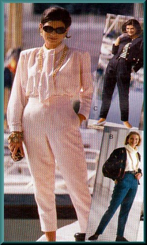 Sewing Step-By-Step Pattern 012-052-128 Tapered Pants Sz 4-22 Misses' Chic Slim Cigarette Trousers