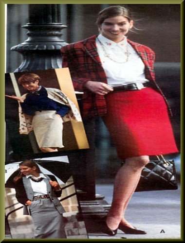 Sewing Step-By-Step Pattern 012-052-101 Straight Skirt Sz 4-22 Misses' Slim Fitted Knee Length Skirt