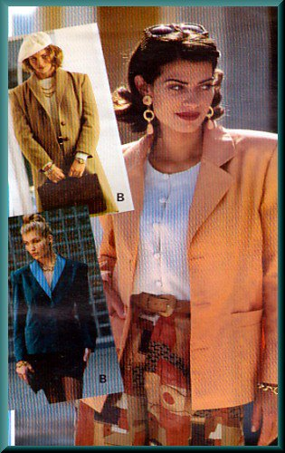 Sewing Step-By-Step Pattern 012-052-122 Tailored Jacket Sz 4-22 Misses' Blazer Notched Shawl Collar