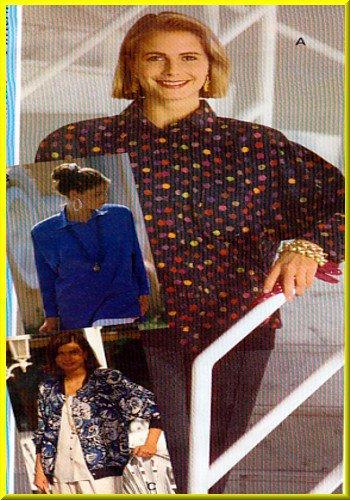 Sewing Step-By-Step Pattern 012-052-125 Raglan Sleeve Garments Sz 4-22 Misses' Tops Cardigan Jacket