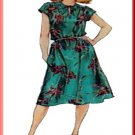 Vintage Simplicity Sewing Pattern 5195 Size 10 Misses' Easy 80s Pullover Dress Shoulder Gathers Tie