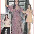 Vintage McCall's Sewing Pattern 4642 Size 12 Misses' Marlo's Corner 70s Dress Empire Waist Wide Pant