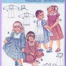 Vintage Burda Sewing Pattern 7204 Size 6M-3/4 Girls' Pretty Dress Frilly Pinafore Peter Pan Collar