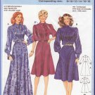 Vintage Burda Sewing Pattern 7248 Size 8-18 Misses' 80s Secretary Dress Bow Collar Yoke Front Tucks