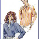 Vintage Kwik Sew Sewing Pattern 1446 Size 6-12 Misses' 80s Raglan Top Shirttail Hem Collar Blouse