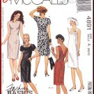 McCall's Sewing Pattern 4891 Size 6-10 Misses' Classic Chic Sheath Dress Princess Seams Knee Length