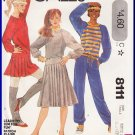 Vintage McCall's Sewing Pattern 8111 Sz 14-16 Misses' Knit Separates Sweatshirt Pants Pleated Skirt