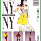 McCall's Sewing Pattern 5423 Size 10 Misses' Bustier Shorts Pants Blouse Topper Gathered Neckline