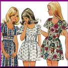CUT Vintage Simplicity Sewing Pattern 5538 Size 10 Girls' Dress Boho Chic Peasant Mini Ankle Length