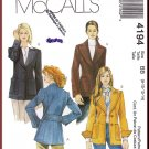 McCall's Sewing Pattern 4194 Size 8-14 Misses' Blazer Sport Coat Jacket Lapels Notched Collar Pocket