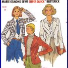 CUT Vintage Butterick Sewing Pattern 6115 Sz10 Misses' Blazer Jacket Marie Osmond Unlined Sport Coat