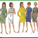 Vintage Butterick Sewing Pattern 4500 Size 18 Misses' Shirtwaist Dress Button Front Shirtdress 60s