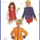 Vintage Butterick Sewing Pattern 3307 Size 14 Girls' Quilt Reversible Jacket Vest Boho Asian Collar