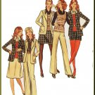 CUT Vintage Butterick Sewing Pattern 6508 Size 10 Misses' 70s Career Suit Blouse Pants Jacket Shorts