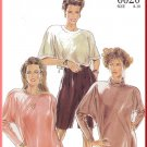 New Look Sewing Pattern 6620 Size 8-18 Misses' Retro Raglan Tops Turtleneck T-Shirt Jewel Neckline