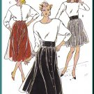 Vintage Kwik Sew Sewing Pattern 1804 Sz XS-XL Misses' Gathered Skirts Retro 80s Bubblegum Waistband