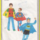 CUT Vintage Simplicity Sewing Pattern 8714 Size 7-8 Boys' Halloween Costume Batman Robin Superman